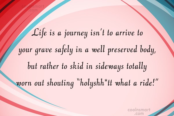 Friendship Quote: Life is a journey isn't to arrive...