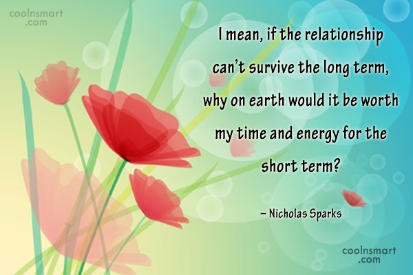 Quote: I mean, if the relationship can't survive...