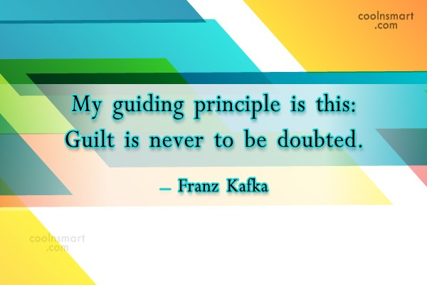 Guilt Quote: My guiding principle is this: Guilt is...