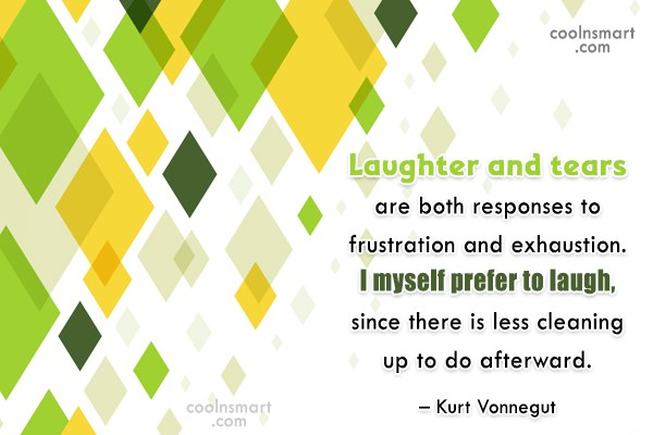 Quote: Laughter and tears are both responses to...