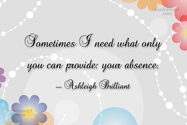 Quote: Sometimes I need what only you can...
