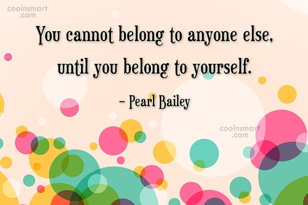 Quote: You cannot belong to anyone else, until...