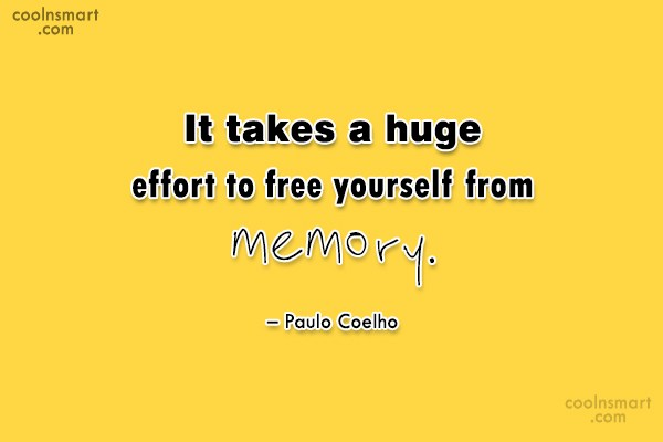 Quote: It takes a huge effort to free...