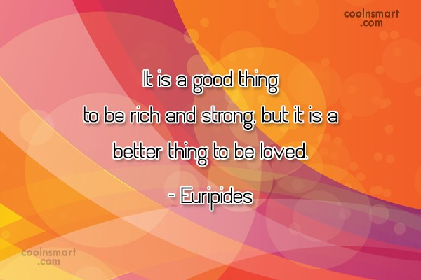 Money Quote: It is a good thing to be...