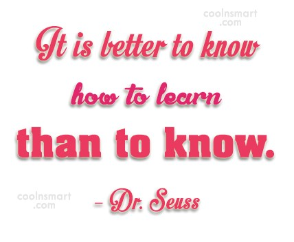 Quote: It is better to know how to...