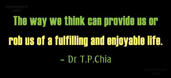 Thinking Quote: The way we think can provide us...