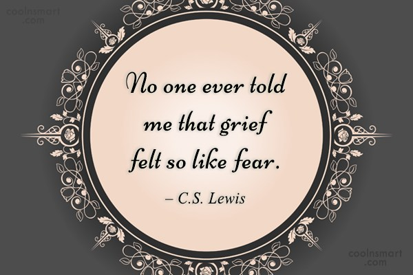 Quote: No one ever told me that grief...