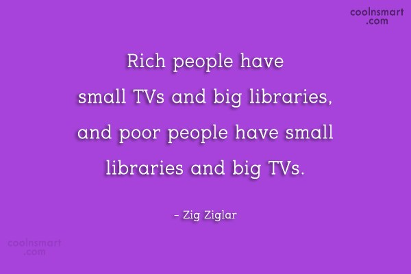 Quote: Rich people have small TVs and big...