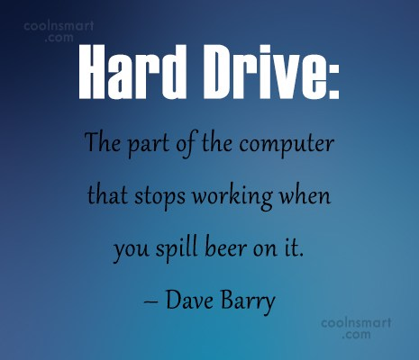Computer Quote: Hard Drive: The part of the computer...
