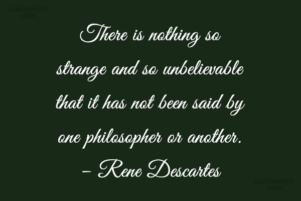 Quote: There is nothing so strange and so...