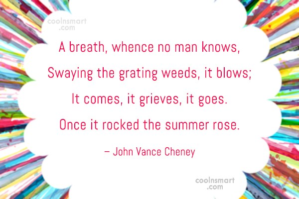Autumn Quote: A breath, whence no man knows, Swaying...