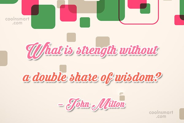 Quote: What is strength without a double share...