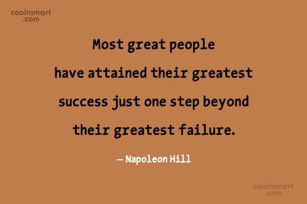 People Quote: Most great people have attained their greatest...