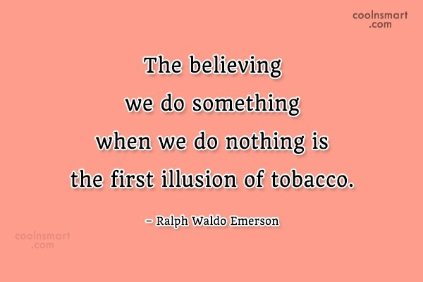 Quote: The believing we do something when we...