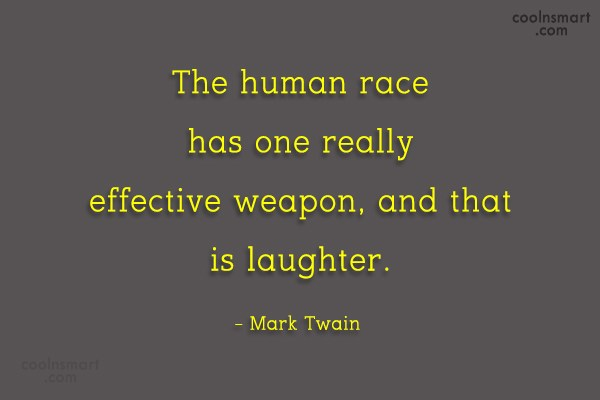 Quote: The human race has one really effective...