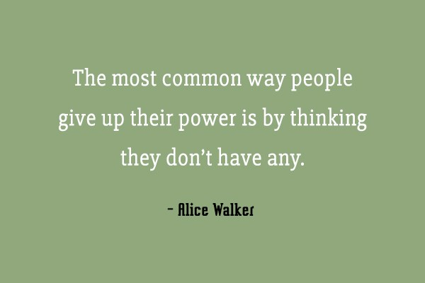 Power Quote: The most common way people give up...