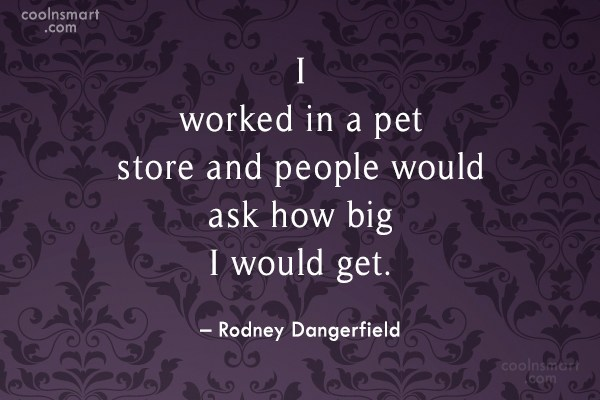 Funny Quote: I worked in a pet store and...