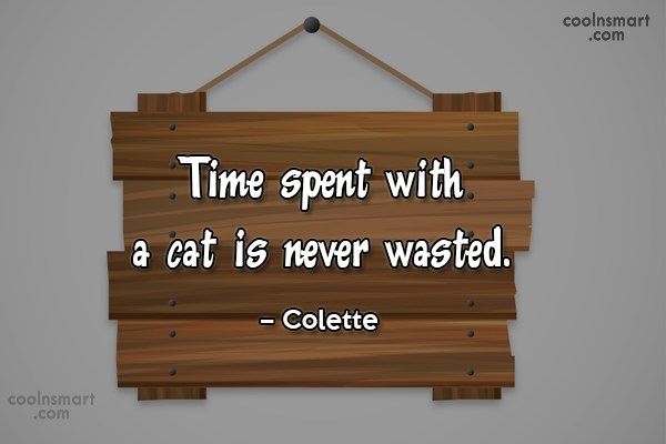Quote: Time spent with a cat is never...
