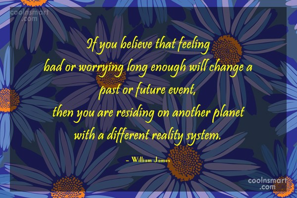 Quote: If you believe that feeling bad or...
