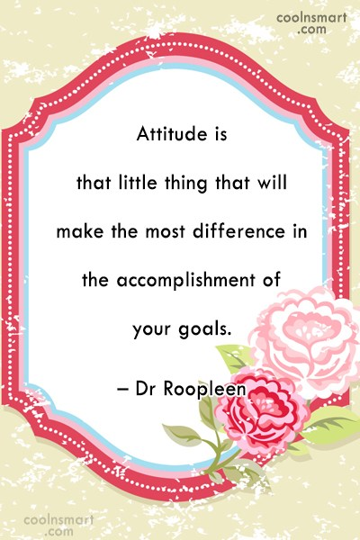 Attitude Quote: Attitude is that little thing that will...