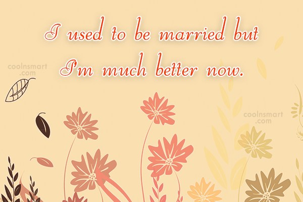 Divorce Quote: I used to be married but I'm...