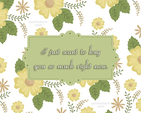 Missing You Quote: I just want to hug you so...