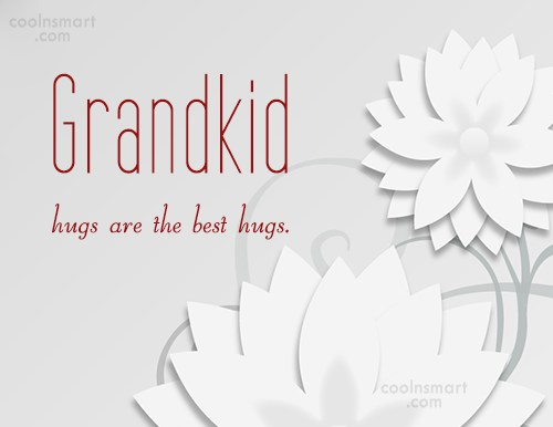 Quote: Grandkid hugs are the best hugs. - CoolNsmart.com