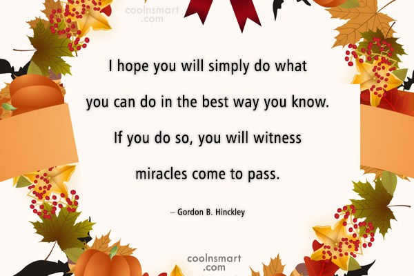 Quote: I hope you will simply do what...