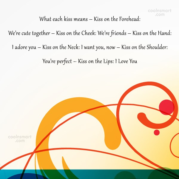 Kiss Quote: What each kiss means – Kiss on...