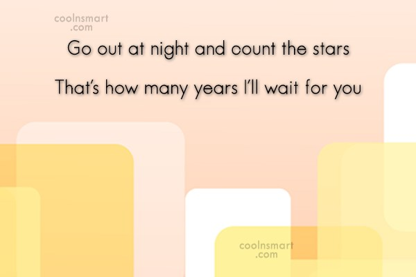 Flirting Quote: Go out at night and count the...