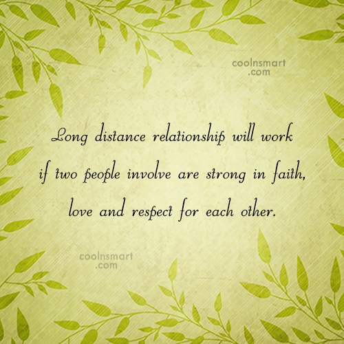 Long Distance Relationship Quote: Long distance relationship will work if two...