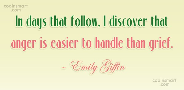 Grief Quote: In days that follow, I discover that...