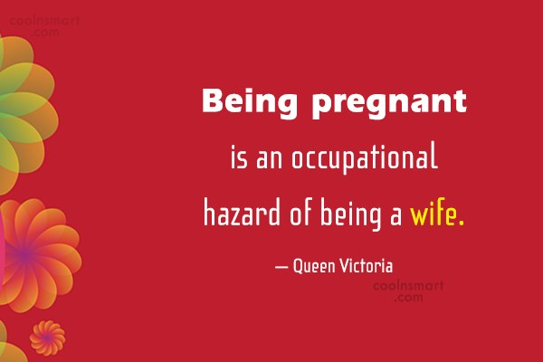 Pregnancy Quote: Being pregnant is an occupational hazard of...