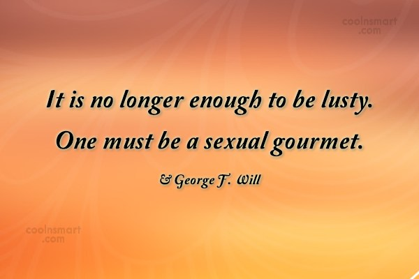 Quote: It is no longer enough to be...