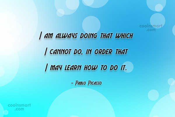 Risk Quote: I am always doing that which I...