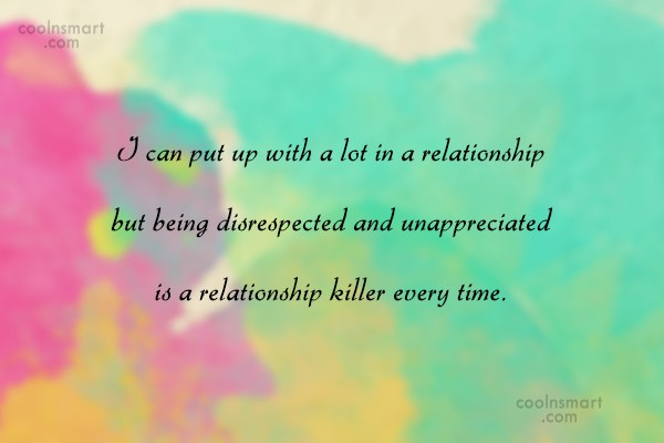 Relationship Quote: I can put up with a lot...