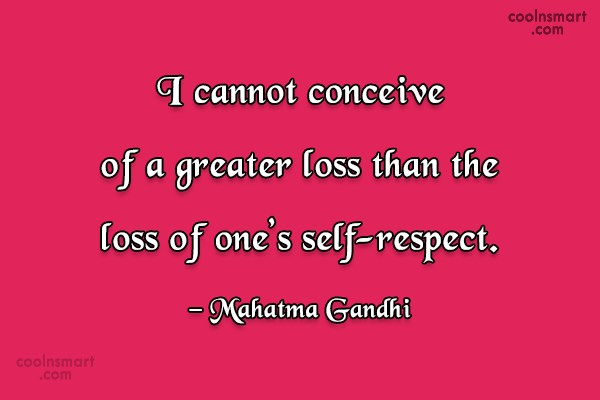 Loss Quote: I cannot conceive of a greater loss...