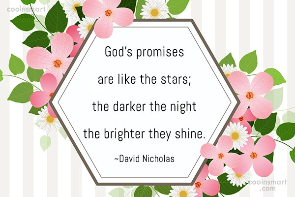 Stars Quote: God's promises are like the stars; the...