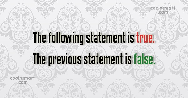 Stupid Quote: The following statement is true. The previous...