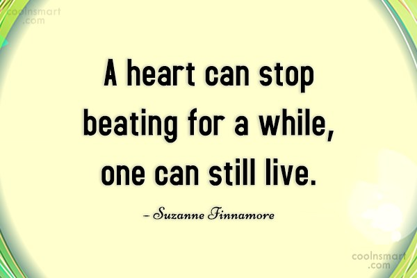 Divorce Quote: A heart can stop beating for a...