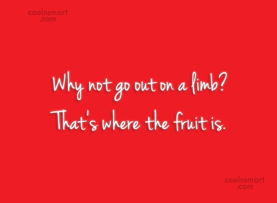 Risk Quote: Why not go out on a limb?...