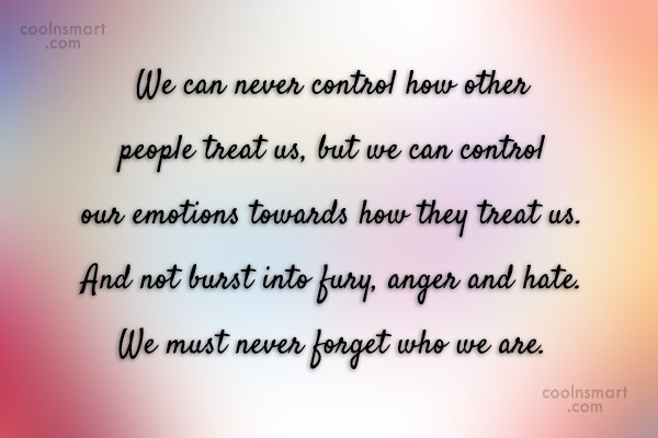 Images Quote: We can never control how other people...