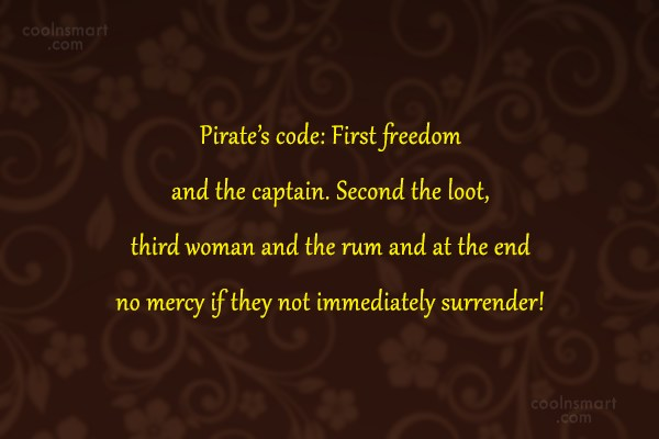 Pirate Quotes and Sayings - Images, Pictures - CoolNSmart