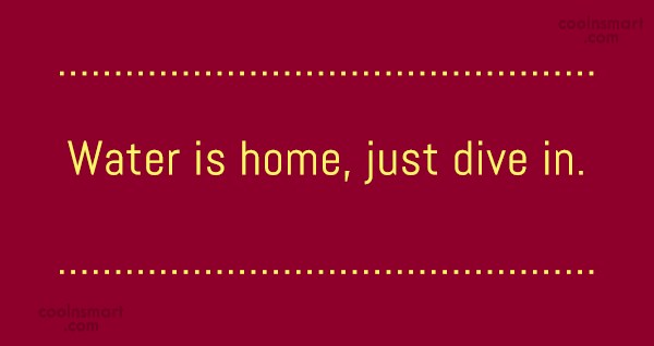 Swimming Quote: Water is home, just dive in.