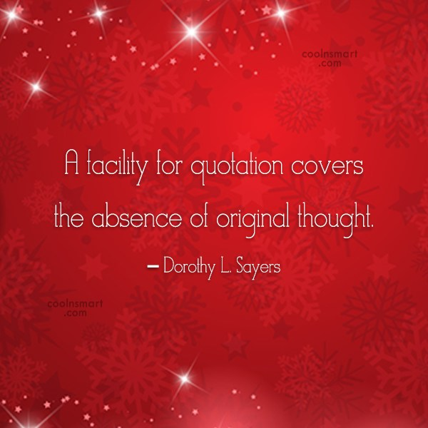 Originality Quote: A facility for quotation covers the absence...