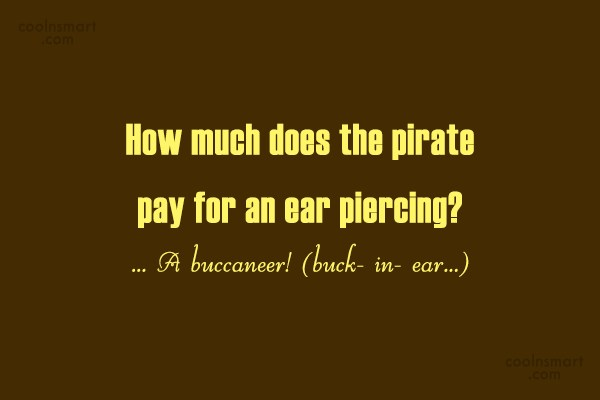 Quote: How much does the pirate pay for...