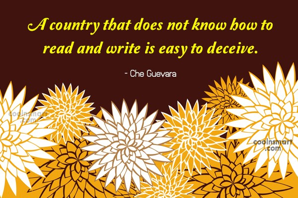 Quote: A country that does not know how...