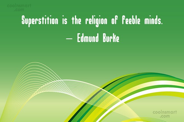 Superstition Vs Religion Essay
