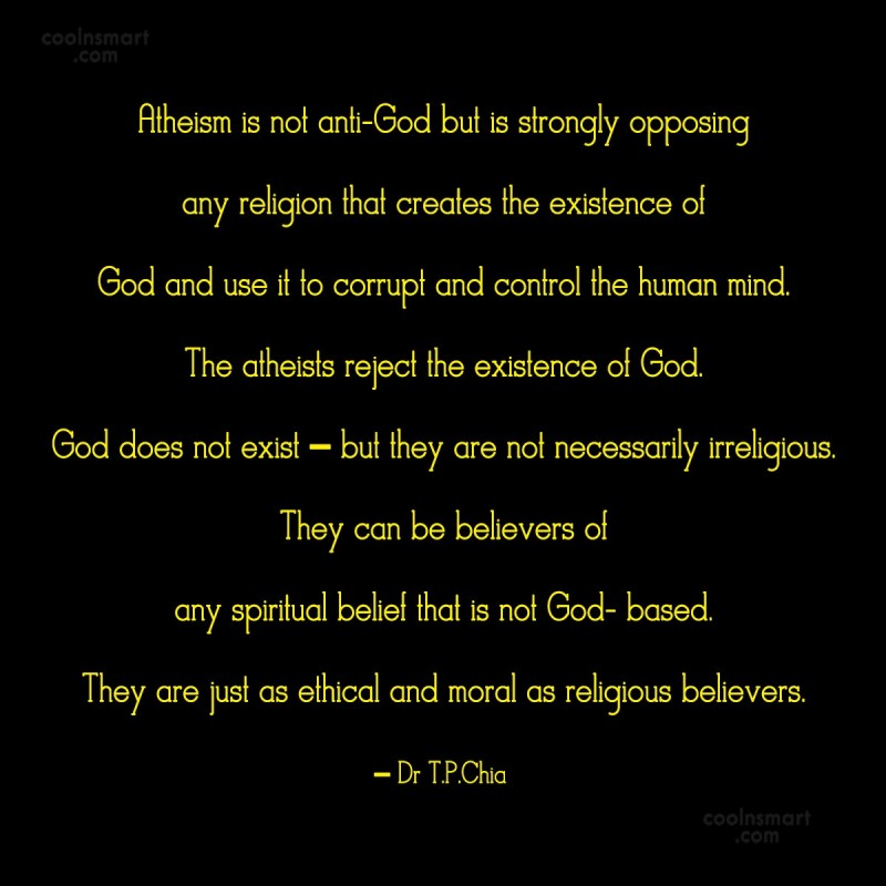 Atheism Quote: Atheism is not anti-God but is strongly...