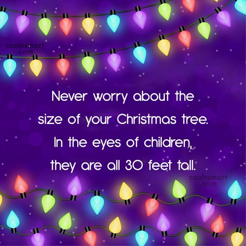 Christmas Quote: Never worry about the size of your...